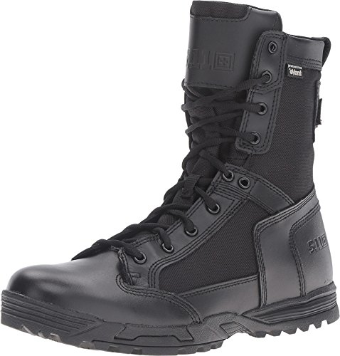 "5.11 Tactical Men's 8"" Leather Skyweight Side Zip Waterproof Combat Military Boots, Style 12321"
