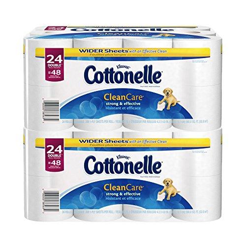 Cottonelle Clean Care Toilet Paper, Double Roll, 24 Count