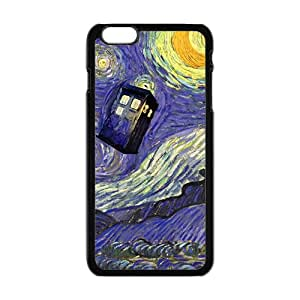 Doctor Who Tardis Police Call Blue Box Starry Night Art Pattern Case For iPhone 6Plus