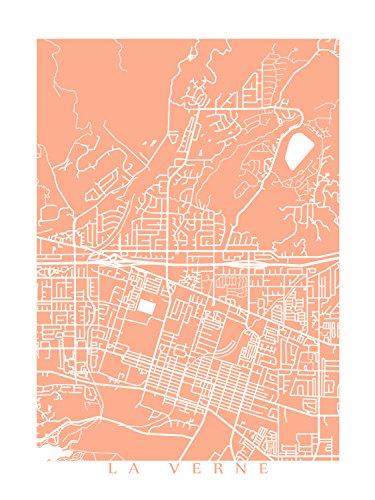 Amazon Com La Verne Map Print Handmade