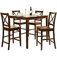 Acme 07550 5-Piece Martha Counter Height Dining Set, Espresso Finish