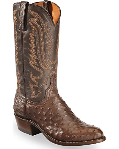 Lucchese Bootmaker Men's Luke Western Boot, Sienna/Chocolate, 11 D US