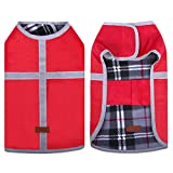 Cheap SAWMONG Dog Coat Reversible Jacket Warm Vest Waterproof Windproof Reflective Dog Cloth for Winter Outdoor, Travel