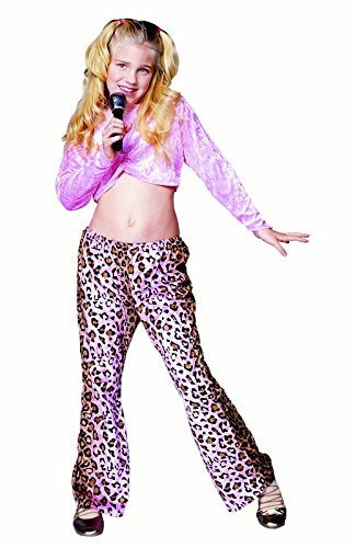 Child Leopard Rock Star Girl Costumes (Rock Star - Leopard, Child Medium Costume)