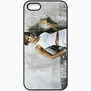 Personalized iPhone 5 5S Cell phone Case/Cover Skin Ashanti Wall T Shirt Hands Black