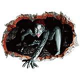 Akabsh Halloween Wall Stickers Horror Door Stickers Window Horror Stickers 4PC