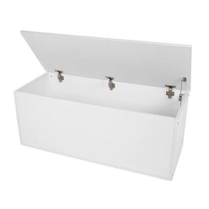 Baúl de almacenamiento otomano de Gugutogo, blanco, podrás ...