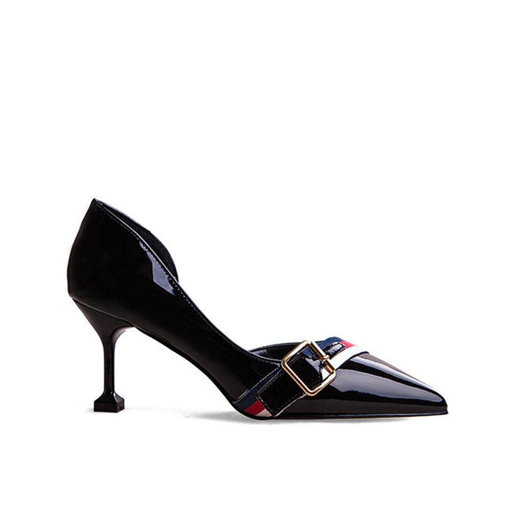 Frauen Frauen Frauen high heels sandalen leder pumps casual party hochzeit büro bühne geschlossene zehe seite leere wölbung schuhe 8c86a0