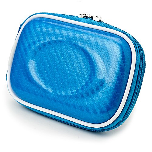 lim EVA Carrying Case for Nikon Coolpix Series Point and Shoot Digital Cameras (Candy Blue) (Blue Candy Camera Case)