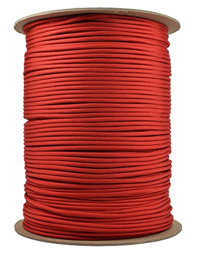 BoredParacord Brand Paracord (1000 ft. Spool) - Red by BoredParacord