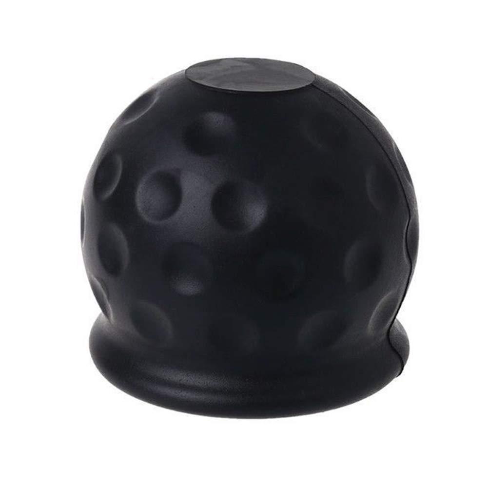 Bouchon de protection universel en caoutchouc pour attelage de remorque de caravane et remorque Noir