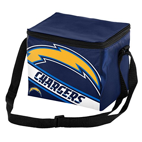San Diego Chargers Big Logo Stripe 6 Pack Cooler (Box Chargers San Diego Lunch)