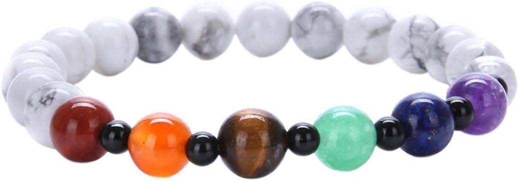 Fashion 7 Chakra Healing Balance Bead Bracelet Yoga Life Energy Bracelet Jewelry