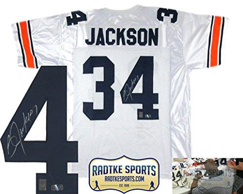 Bo Jackson Autographed/Signed Auburn White Custom Jersey