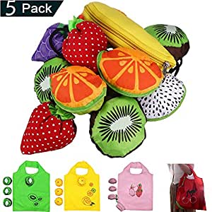 Amazon.com: Fruits - Bolsas de la compra reutilizables, 5 ...