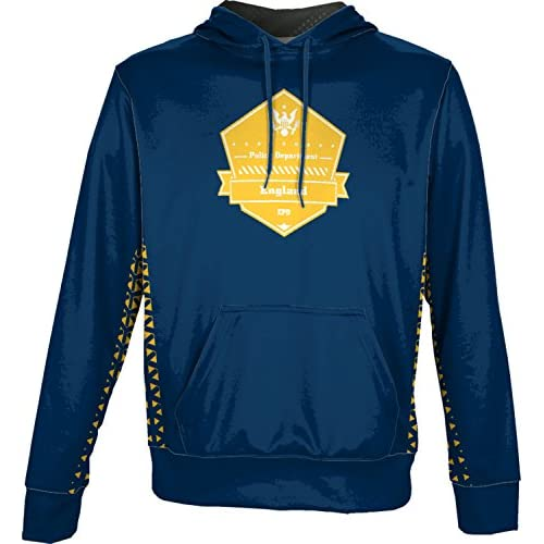 ProSphere Boys' England Police Department Geometric Hoodie Sweatshirt (Apparel) save more