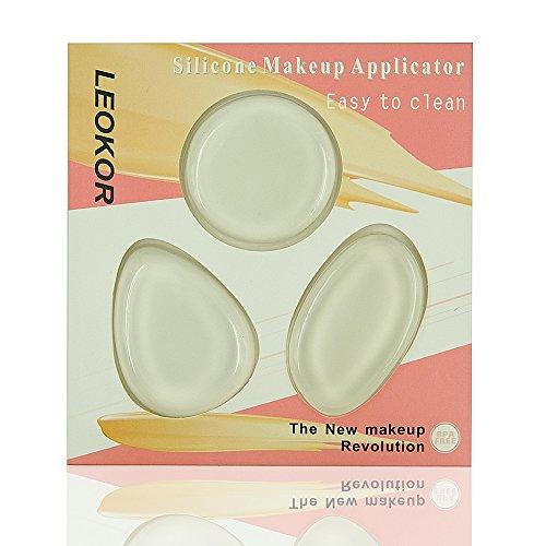 Silicone Makeup Sponge, LEOKOR Silicone Makeup Applicator -