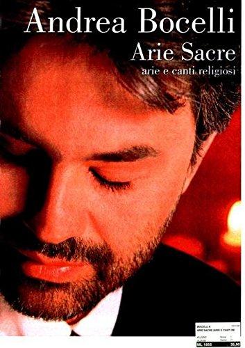Andrea Bocelli: Arie Sacre (Inglese) Copertina flessibile – 18 nov 1999 Carisch 8882915948 52-ML1855 MUSIC / Religious / Christian