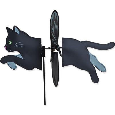 """19"""" BLACK CAT Petite Garden Stake Wind Spinner by Premier Kites & Designs: Garden & Outdoor"""