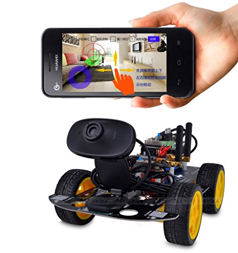 Kuman sm wi fi robot car kit for arduino wheel utility