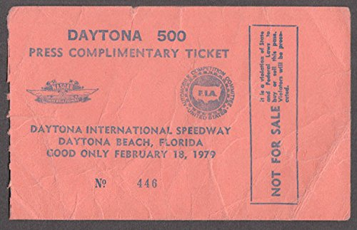 Daytona 500 Tickets (1979 Daytona 500 Press Complimentary Ticket)