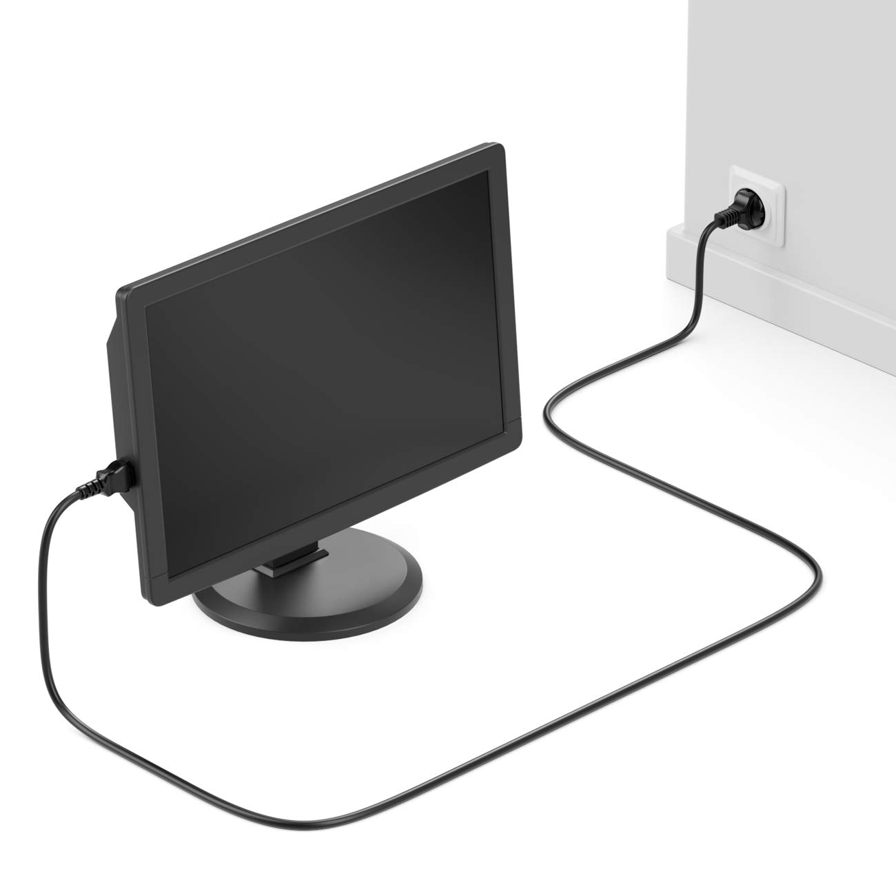CEE 7//4 deleyCON 5m Cable de Alimentaci/ón a Prueba de Choques Enchufe Tipo F en Toma de Entrada C13 Enchufe Ordenador Personal Ordenador Monitor Impresora Beamer