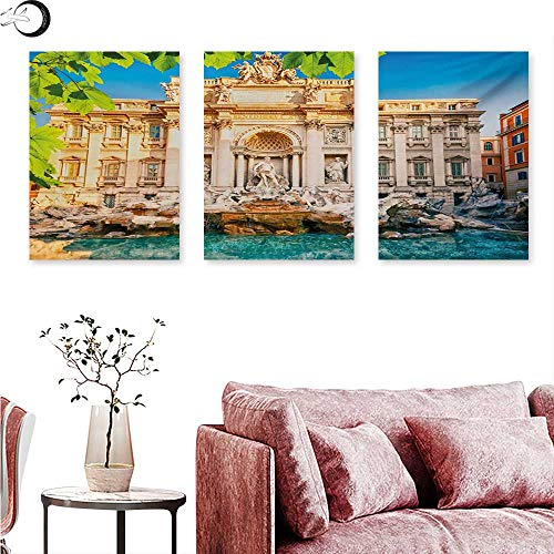 Mannwarehouse Italy Canvas Prints Wall Art Fountain Di Trevi Famous Travel Destination Tourist Attraction European Landmark Wall Panel Art Multicolor W 16