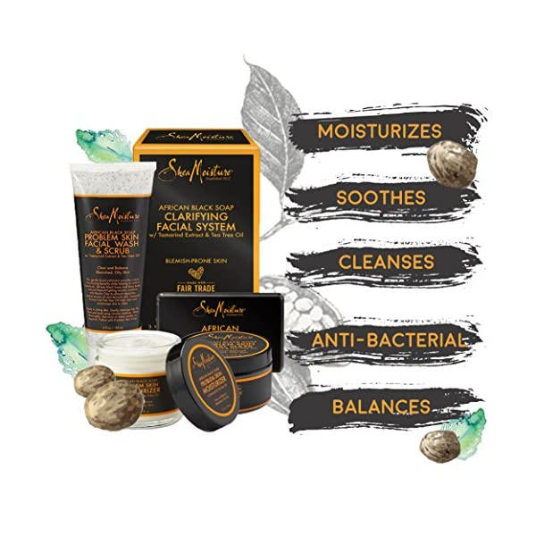 Beauty Shopping SheaMoisture African Black Soap Facial System Kit |4oz. Facial