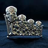 Calavera Measuring Spoons with Display Stand cast in Pewter