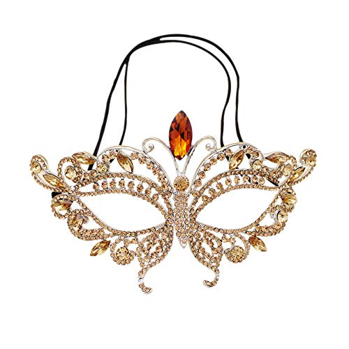 Miallo Bridal Butterfly Rhinestone Crystal Fancy Masquerade Eye