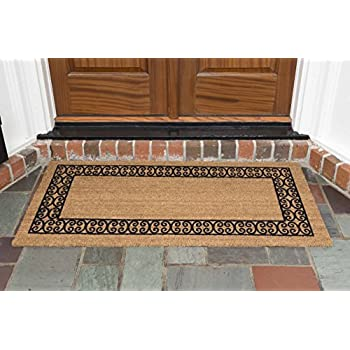 decoir 24 x 48 39 charleston border 39 coir double door mat medium large garden. Black Bedroom Furniture Sets. Home Design Ideas