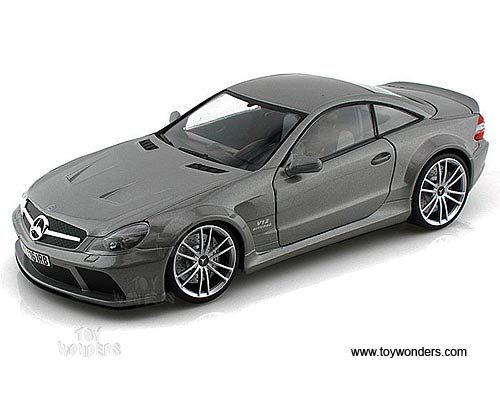 (Motormax - Mercedes-Benz SL65 AMG Black Series Hard Top (1/18 scale diecast model car, Grey) 79161 diecast motorcycles and cars )