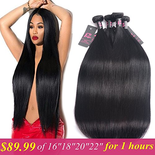 - Malaysian Virgin Straight Hair Mink 8A 4 Bundles 16 18 20 22 inches Unprocessed Human Hair Weave Bundles Malaysian Straight Hair Natural Color