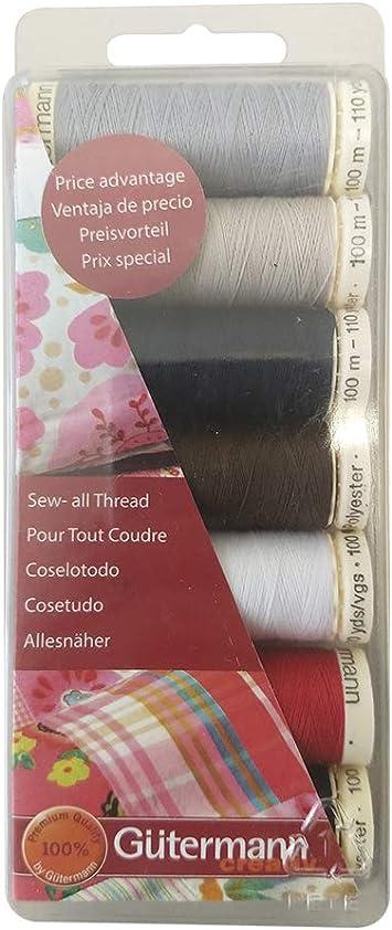 4125 1.70 eur//100 metros Gütermann multicolor quiltgarn Cotton 30 color