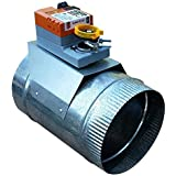"Zone Damper 6"" Round Professional-Grade (HVAC Zoning) - Preminum replacement for Honeywell, EWC, Durozone, more (06)"