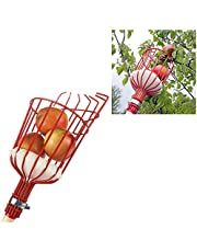FLAIGO Fruit Picker Head Basket with Bag Garden Farm Fruit Catcher Harvest Picking Tool for Picking Orange Pear Apple Peach and More to Prevent Bruising (Pole not Included) (1PCS)