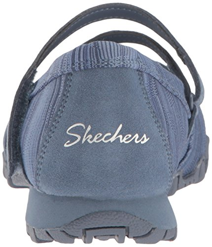 Skechers Bikers Ripples 49343BLK, Ballerinas Blau