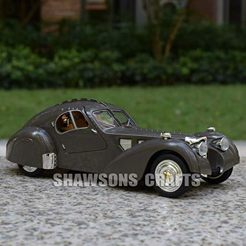 Diecasts & Toy Vehicles - DIECAST Model Toys Vintage Cars Pull Back Bugatti Type 57 Sound & Light - by LINAE - 1 PCs from LINAE
