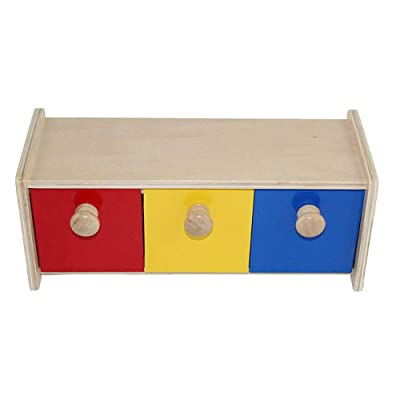 Montessori Infant Toy Teaching Aids Preschool Education Wooden Toy Box with Bins Learning Materials: Toys & Games