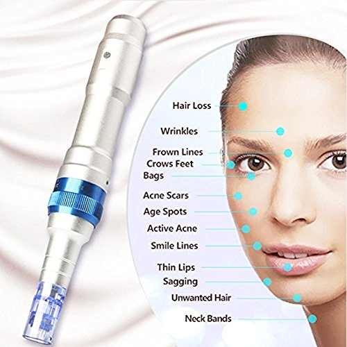 Dr. Pen Ultima A6 Rechargeable Therapy Professional System & Dr Pen A6 Accessories - for Scars, Acne, Wrinkles, Spot Removal, Hydrating, Whitening (2 Batteries+10PCS Cartridges) by Dr. Pen (Image #2)