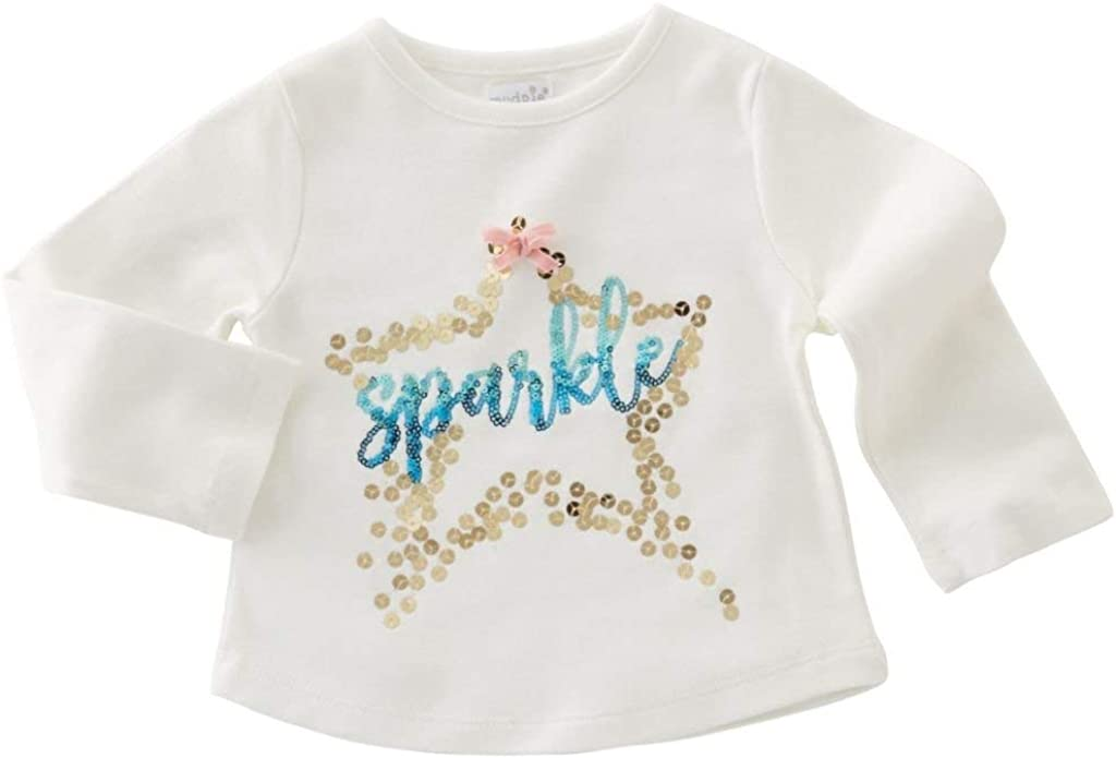 Mud Pie Baby Girl Sparkle Dazzle Tees T Shirt 1152090 (Small, Sparkle)