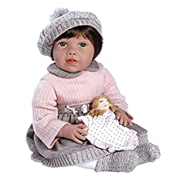 Paradise Galleries Toddler Baby Doll, Baby Jenna, 20 inch Weighted Doll in Vinyl