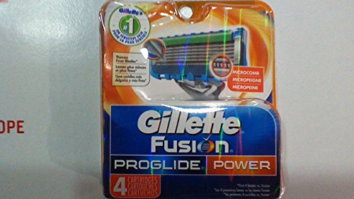 4 Gillette Fusion Proglide Power Razor Blades Refill PACK...