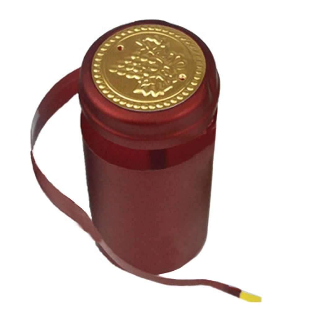 50Pcs 30mm PVC Tear Tape Wine Bottle Heat Shrink Cap Sealing Cover Home Brew Tool KZY