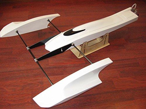 Fiberglass Outrigger - Tobsd 33 inch Poseidon FibreGlass Outrigger Rc Boat Hydroplane Kit Hydro Rigger Hull