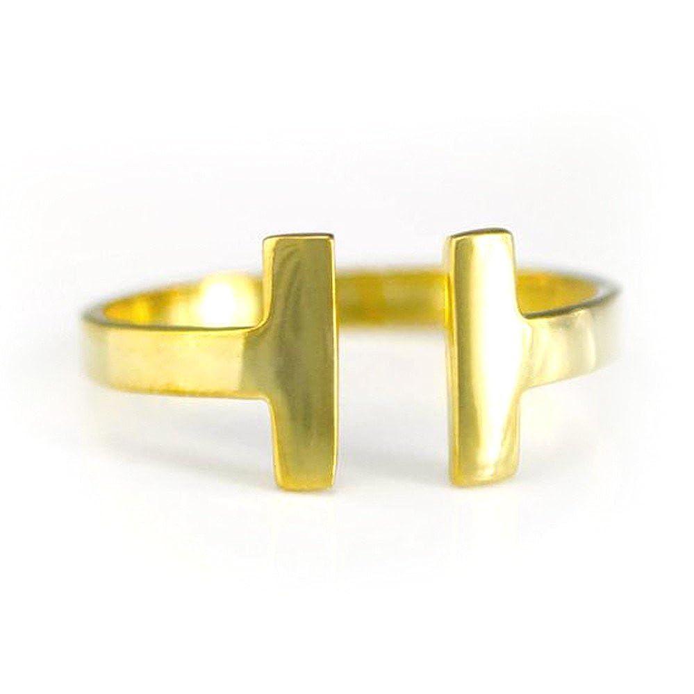 DV Jewels Minimalist Double Bar Ring