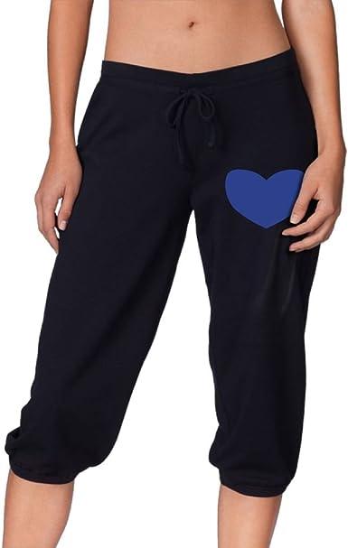 Amazon Com Para Mujer Love Honduras Recortada Pantalones Lounge Capris Pantalones Casual Sport Pantalones De Chandal Xxl Negro Clothing