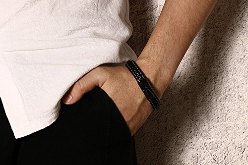 XUANPAI Handmade His and Hers Relationship Promise Braided Leather Bracelets Sets Gift for Couples by XUANPAI (Image #4)