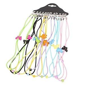 Ewandastore 12pcs Colorful Elastic Adjustable Nylon Cord Safety Kids Eyeglass Rope Chains Holder Eyewear Cord Neck Strap