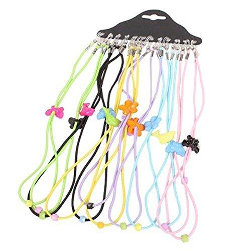 Ewandastore 12pcs Colorful Elastic Adjustable Nylon Cord Safety Kids Eyeglass Rope Chains Holder Eyewear Cord Neck Strap from Ewandastore